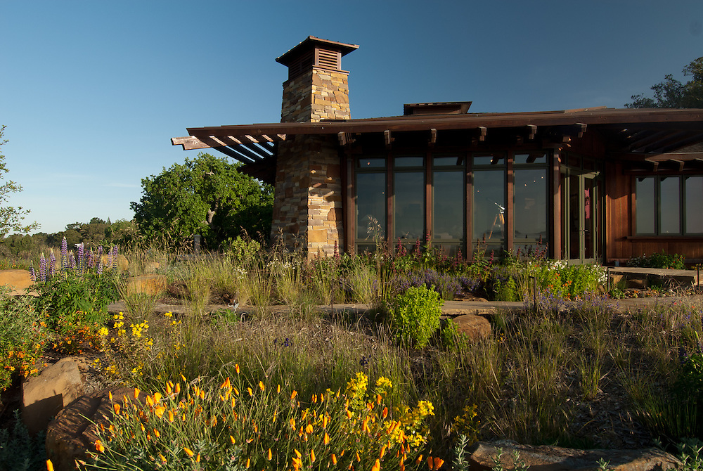 Landscape design elements at a private residence