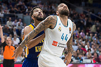 Real Madrid Jeffery Taylor and Khimki Moscow Anthony Gill during Turkish Airlines Euroleague match between Real Madrid and Khimki Moscow at Wizink Center in Madrid, Spain. November 02, 2017. (ALTERPHOTOS/Borja B.Hojas)