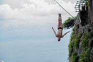 WEYMOUNT OWEN  UK<br /> 32&deg; MarMeeting - Mediterrean cup - High Diving Competition<br /> Tuffi Grandi Altezze<br /> Fiordo di Furore - Furore Fiord Furore Costiera Amalfitana (SA)<br /> Photo &copy; YuriGiglio/deepbluemedia<br /> 20180903