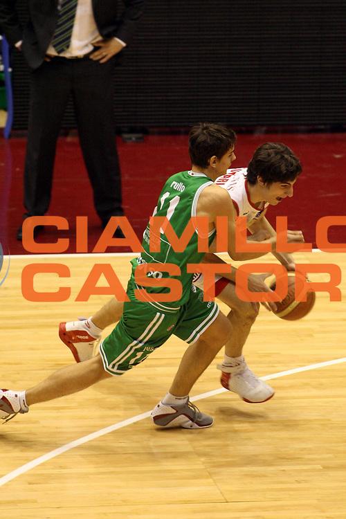 DESCRIZIONE : Milano Lega A1 2006-07 Armani Jeans Milano Benetton Treviso <br /> GIOCATORE : Plumari <br /> SQUADRA : Armani Jeans Milano <br /> EVENTO : Campionato Lega A1 2006-2007 <br /> GARA : Armani Jeans Milano Benetton Treviso <br /> DATA : 10/12/2006 <br /> CATEGORIA : Palleggio <br /> SPORT : Pallacanestro <br /> AUTORE : Agenzia Ciamillo-Castoria/G.Ciamillo