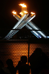 Olympic Winter Games Vancouver 2010 - Olympische Winter Spiele Vancouver 2010, Olympic Flame, Olympisches Feuer, Olympic Torch, Feature,  *Photo by Malte Christians / HOCH ZWEI / SPORTIDA.com.