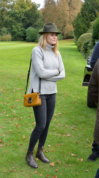 Triinu Raudsepp at Young Guns raising money for the fight against breast cancer trough Cancer Research UK held at EJ Churchill Shooting School followed by lunch at West Wycombe Park, England. 23 September 2017.