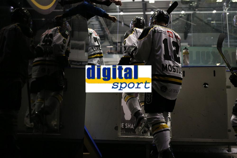 GET-ligaen Ice Hockey, 27. october 2016 ,  Stavanger Oilers v Stjernen<br /> Spillere fra Stavanger Oilers i løpet av pause mot Stjernen<br /> Foto: Andrew Halseid Budd , Digitalsport