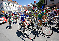 Tomaz Nose (SLO) of Adria Mobil at start of 2nd stage of Tour de Slovenie 2009 from Kamnik to Ljubljana, 146 km, on June 19 2009, Slovenia. (Photo by Vid Ponikvar / Sportida)