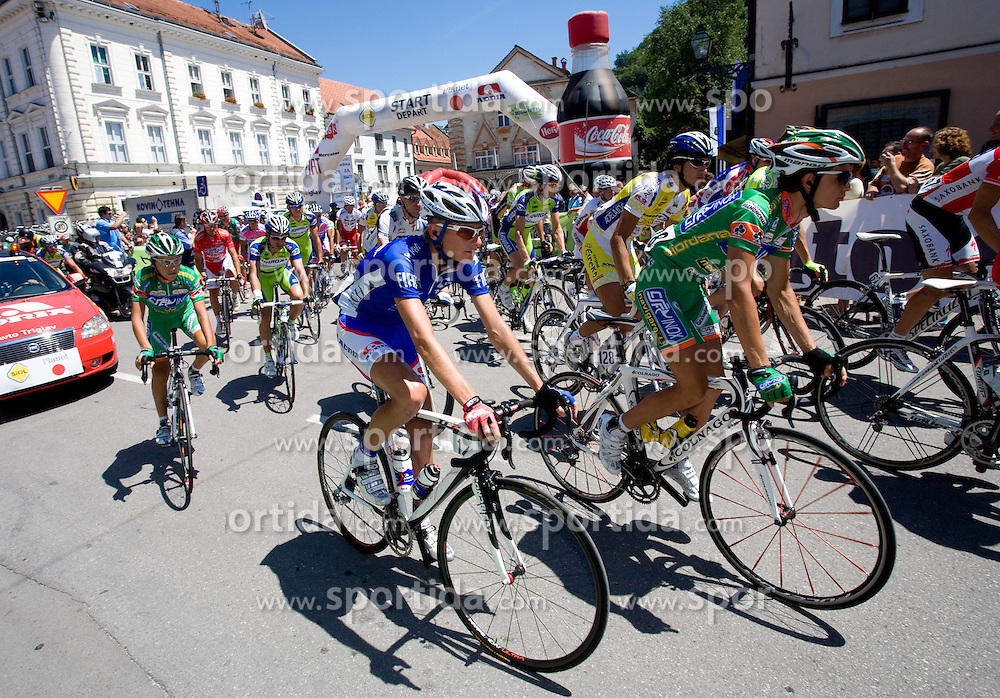 Tomaz Nose (SLO) of Adria Mobil at start of 2nd stage of Tour de Slovenie 2009 from Kamnik to Ljubljana, 146 km, on June 19 2009, Slovenia. (Photo by Vid Ponikvar / Sportida)