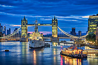 Die HMS Belfast ist ein britisches Kriegsschiff, das heute als Museums auf der Themse in London bei der Tower Bridge verankert ist.