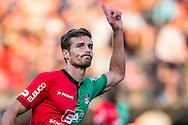 NIJMEGEN, NEC - Levante UD, oefenduel, voorbereiding op het nieuwe seizoen 2015-2016, 01-08-2015, Stadion De Goffert, NEC speler Christian Santos heeft de 1-1 gescoord .