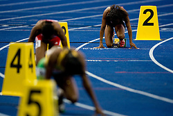 Athletes at start in the women's 400 Metres Hurdles Final during day six of the 12th IAAF World Athletics Championships at the Olympic Stadium on August 20, 2009 in Berlin, Germany. (Photo by Vid Ponikvar / Sportida)