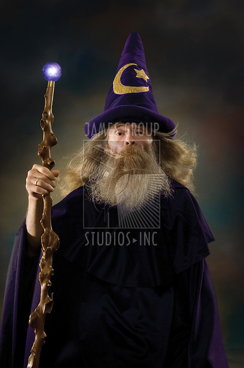 Wizard with posing for a portrait