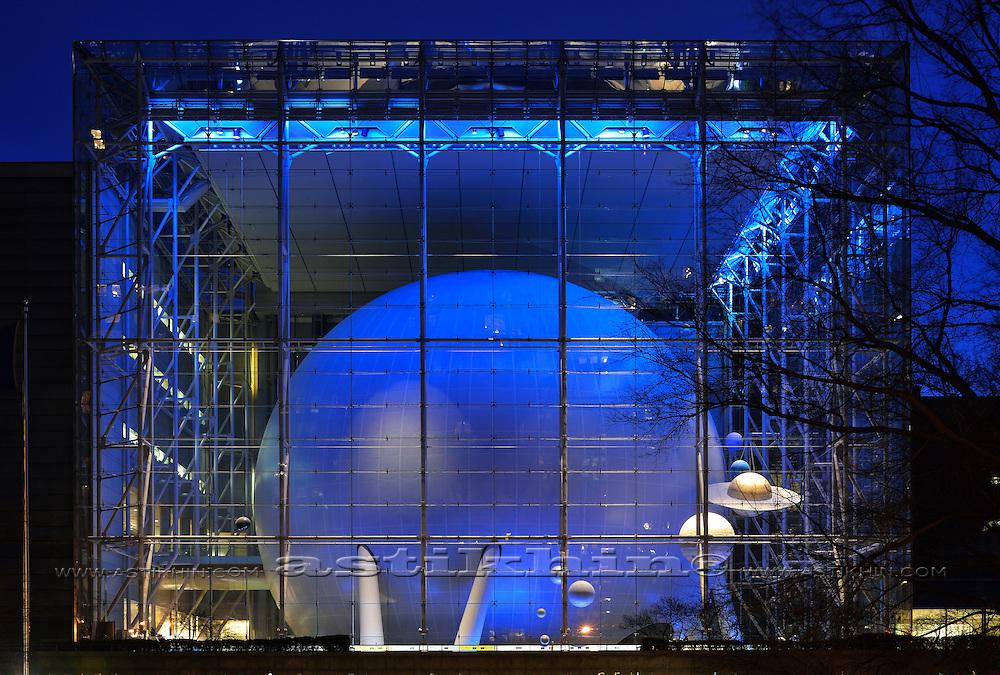 Museum of Natural History at night.
