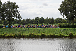 The peloton speed along the riverside at Boels Ladies Tour 2019 - Stage 2, a 113.7 km road race starting and finishing in Gennep, Netherlands on September 5, 2019. Photo by Sean Robinson/velofocus.com