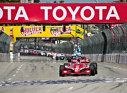 LONG BEACH, CA - APR 19: Indycar driver Dario Franchitti in the #10 Target Chip Ganassi Racing  during the 35th Toyota Grand Prix of Long Beach on Apr 19, 2009. Photo by Eduardo E. Silva