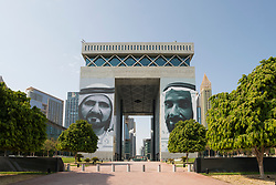 DIFC ( Dubai International Financial Centre) a special economic zone in Dubai, UAE, United Arab Emirates.
