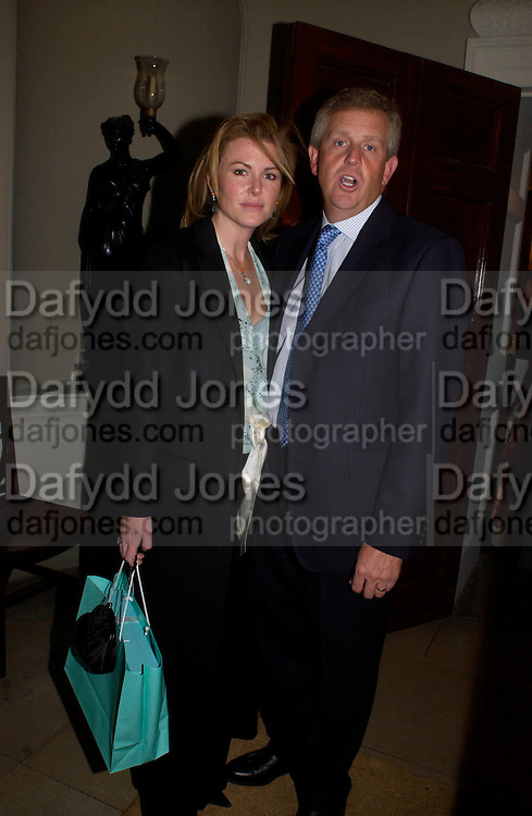 Colin Montgomerie and Eimear Montgomerie. Tiffany in Fashion by John Loring, Spencer House. 11 March 2004.  ONE TIME USE ONLY - DO NOT ARCHIVE  © Copyright Photograph by Dafydd Jones 66 Stockwell Park Rd. London SW9 0DA Tel 020 7733 0108 www.dafjones.com
