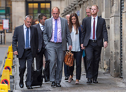© Licensed to London News Pictures. 08/08/2018. Bristol, UK. England cricketer BEN STOKES (right) arrives at Bristol Crown court with his wife CLARE, for the third day of his trial on charges of affray that relate to a fight outside a Bristol nightclub on September 25 2017. Stokes and two other men, Ryan Ali, 28, and Ryan Hale, 27, all deny the charge. Stokes, Ali and Hale are jointly charged with affray in the Clifton Triangle area of Bristol on September 25 last year, several hours after England had played a one-day international against the West Indies in the city. A 27-year-old man allegedly suffered a fractured eye socket in the incident. Photo credit: Simon Chapman/LNP