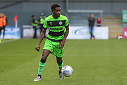 Forest Green Rovers Reece Brown(10) on the ball during the EFL Sky Bet League 2 match between Exeter City and Forest Green Rovers at St James' Park, Exeter, England on 27 October 2018.