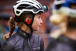 Cecilie Uttrup Ludwig (DEN) waits to sign on at Emakumeen Bira 2018 - Stage 3, a 114.5 km road race starting and finishing in Aretxabaleta, Spain on May 21, 2018. Photo by Sean Robinson/Velofocus.com