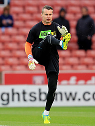Shay Given of Stoke City warms up - Mandatory by-line: Matt McNulty/JMP - 18/04/2016 - FOOTBALL - Britannia Stadium - Stoke, England - Stoke City v Tottenham Hotspur - Barclays Premier League