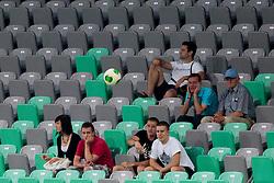 Visitors during football match between NK Olimpija Ljubljana and NK Rudar Velenje in 1st Round of PrvaLiga Telekom Slovenije 2013/14 on July 13, 2013 in SRC Stozice, Ljubljana, Slovenia. (Photo By Urban Urbanc / Sportida.com)