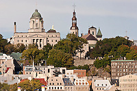 UNESCO World Heritage Site, Quebec City,  in autumn as seen from across the Saint Laurence River in Levis Quebec. © Allen McEachern.