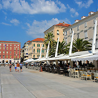 Riva Seaside Promenade in Split, Croatia<br />