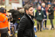Bristol City manager Lee Johnson during the Sky Bet Championship match between Bristol City and Ipswich Town at Ashton Gate, Bristol, England on 13 February 2016. Photo by Shane Healey.