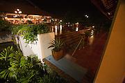 Pandanus Resort. Tropical downpour.