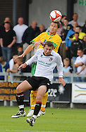 Dartford - Saturday July 11 2009: Adam Drury of Norwich City and Ryan Hayes of Dartford during the friendly match at Princes Park. (Pic by Alex Broadway/Focus Images)..