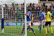 Christian Doidgescoring during the Sky Bet League 2 match between Carlisle United and Dagenham and Redbridge at Brunton Park, Carlisle, England on 12 September 2015. Photo by Craig McAllister.