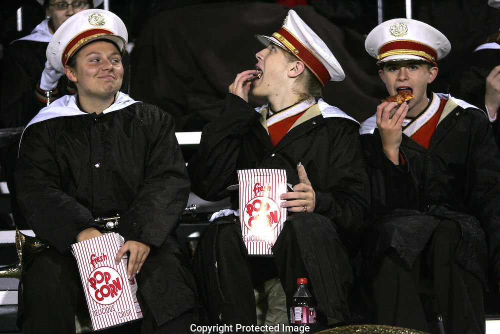 Heath band members take a break from entertaining the crowd during the 3rd quarter at Bexley Friday October 24, 2008.
