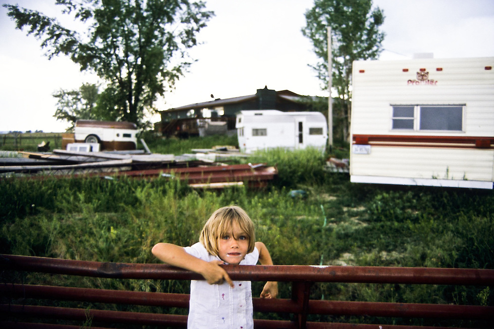 One of the seven Sharpe Family children who would live in the house my teammates and I worked on with Habitat for Humanity in Billings, Montana, June 2006