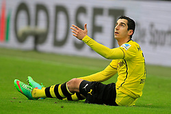 "01.03.2014, Signal Iduna Park, Dortmund, GER, 1. FBL, Borussia Dortmund vs 1. FC Nuernberg, 23. Runde, im Bild Henrikh ""Micki"" Mkhihtaryan (Borussia Dortmund #10) enttaeuscht am Boden // during the German Bundesliga 23th round match between Borussia Dortmund and 1. FC Nuernberg at the Signal Iduna Park in Dortmund, Germany on 2014/03/01. EXPA Pictures © 2014, PhotoCredit: EXPA/ Eibner-Pressefoto/ Schueler<br /> <br /> *****ATTENTION - OUT of GER*****"
