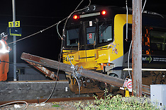 Petone-Matangi unit hits snapped power pole at Ava Station