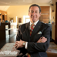 Bob Farley/F8photo.org --   National Bank of Commerce's President Robert Aland at the banks English Village branch.