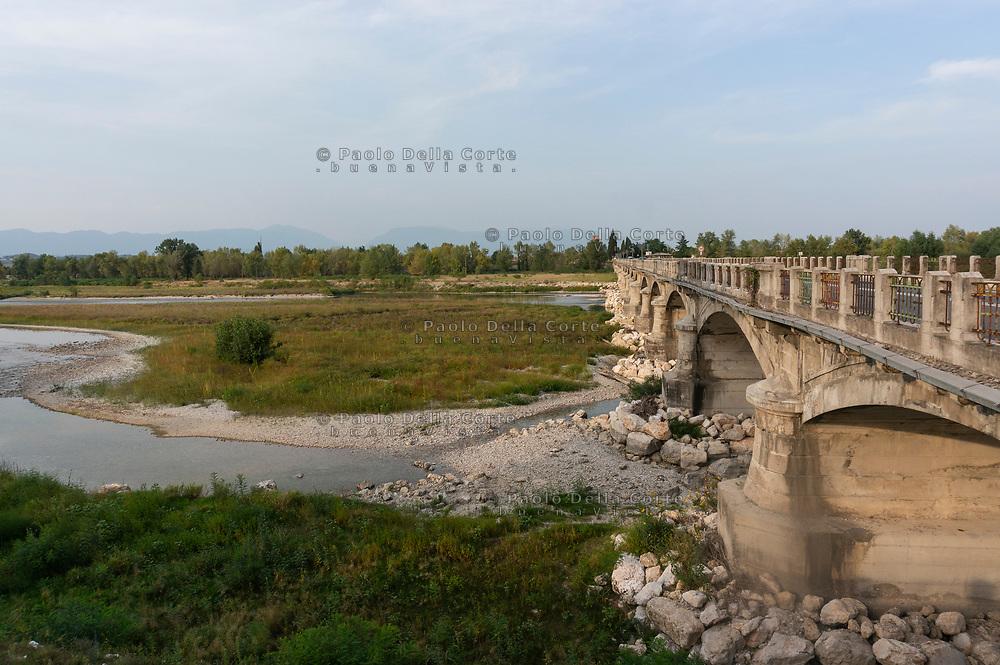 Il Piave nei pressi del Ponte della Priula