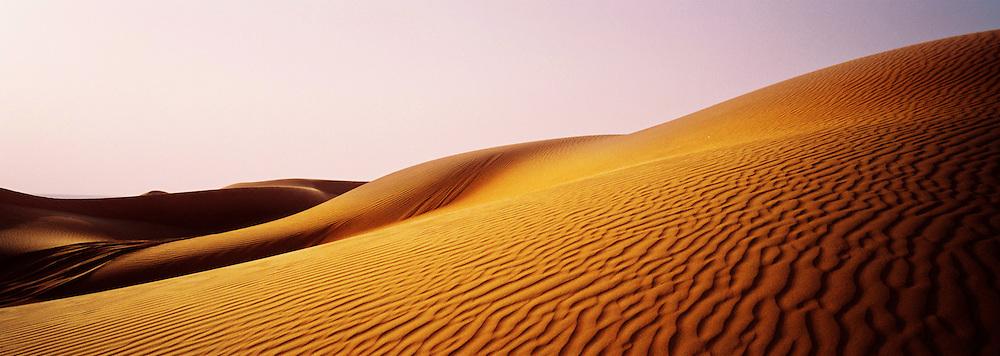 Dusk in the Negev desert, Israel.