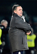 Cheltenham manager Paul Buckle during the Sky Bet League 2 match between Cheltenham Town and Morecambe at Whaddon Road, Cheltenham, England on 16 January 2015. Photo by Alan Franklin.