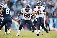 NASHVILLE, TN - DECEMBER 3:  Breno Giacomini #68 of the Houston Texans drops back to block during a game against the Tennessee Titans at Nissan Stadium on December 3, 2017 in Nashville, Tennessee.  The Titans defeated the Texans 23-14.  (Photo by Wesley Hitt/Getty Images) *** Local Caption *** Breno Giacomini