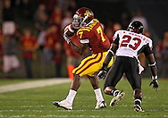 September 2 2010: Iowa State Cyclones wide receiver Darius Reynolds (7) pulls in a pass in front of Northern Illinois Huskies cornerback Kiaree Daniels (23) during the first half of the NCAA football game between the Northern Illinois Huskies and the Iowa State Cyclones at Jack Trice Stadium in Ames, Iowa on Thursday September 2, 2010.