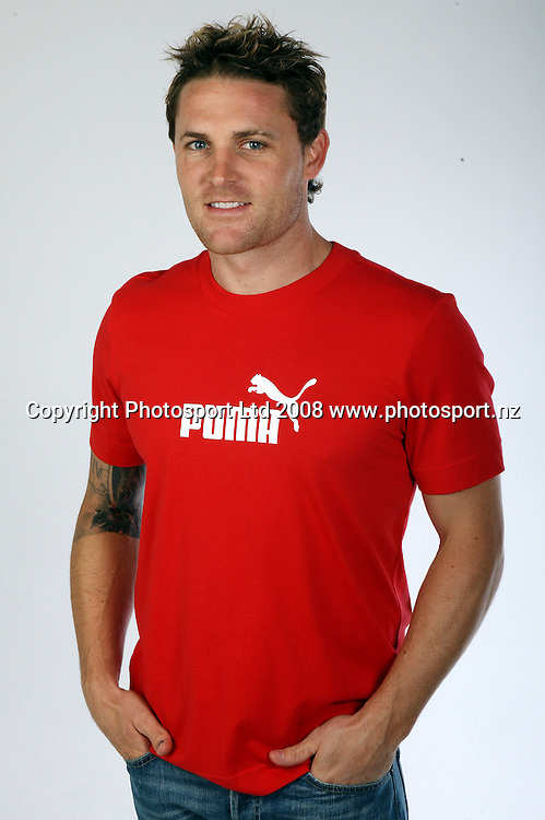Brendon McCullum of the Black Caps cricket team during a photoshoot session. 27 August 2008. Copyright photo: Andrew Cornaga / www.photosport.nz