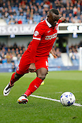 Charlton Athletic striker Igor Vetokele (14) attacks down the line before getting an early cross in to the box during the Sky Bet Championship match between Queens Park Rangers and Charlton Athletic at the Loftus Road Stadium, London, England on 9 April 2016. Photo by Andy Walter.