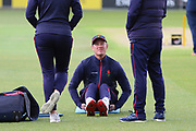 Lancashires Keaton Jennings warms up before the Royal London 1 Day Cup match between Lancashire County Cricket Club and Derbyshire County Cricket Club at the Emirates, Old Trafford, Manchester, United Kingdom on 2 May 2019.