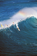 Surfing, North Shore, Oahu, Hawaii, Editoial use only no model release