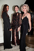 EKATERINA KITAINA; MARGOT STILLEY; ANASTASIA LENGLET, The Tomodachi ( Friends) Charity Dinner hosted by Chef Nobu Matsuhisa in aid of the Unicef  Japanese Tsunami Appeal. Nobu Berkeley St. London. 5 May 2011. <br /> <br />  , -DO NOT ARCHIVE-© Copyright Photograph by Dafydd Jones. 248 Clapham Rd. London SW9 0PZ. Tel 0207 820 0771. www.dafjones.com.