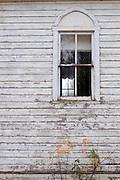Church window, Swan Plain, Saskatchewan, Canada
