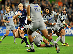 Rebels captain, Stirling Mortlock .Melbourne Rebels v The Hurricanes.Rugby Union - 2011 Super Rugby.AAMI Park, Melbourne VIC Australia.Friday, 25 March 2011.© Sport the library / Jeff Crow