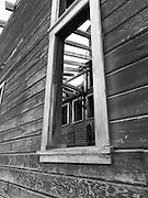 Photograph of the abandoned, historic Kennicott Copper Mine in Wrangell-Saint Elias National Park, near McCarthy, Alaska.