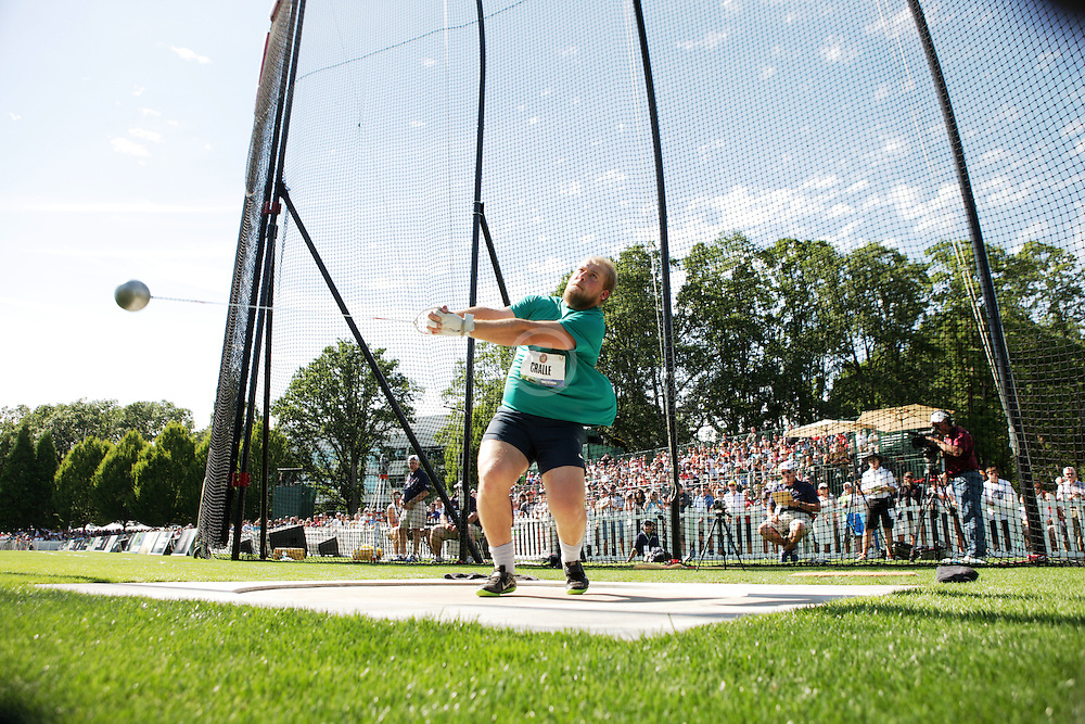Olympic Trials - Hammer Throw, men Hammer throw at Nike Campus, Beaverton, Chris Cralle, 2nd, makes Olympic team