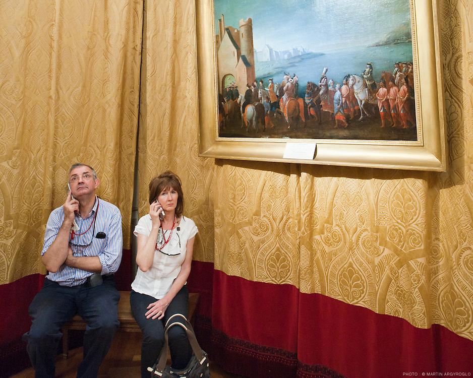 Tourisme au Chateau de Villandry. France, 2011.