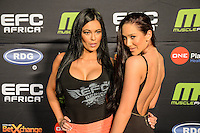 during EFC Africa 26 Weigh-in, 11 December  2013, The Dome, Johannesburg.
